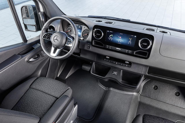 El nuevo interior del Sprinter es altamente tecnológico.