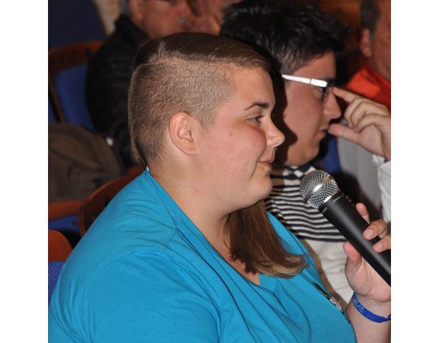 La presidenta de los jóvenes, Ángela Fuentes