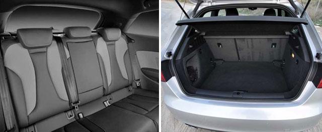 Plazas traseras / La capacidad del maletero es de 365 litros que se incrementan a 1.100 abatiendo los asientos traseros
