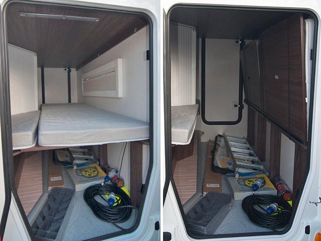 El garaje con y sin la litera