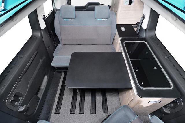 La distribución es idéntica a cualquier camper Volkswagen o Mercedes.