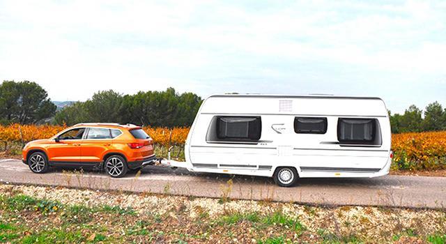 Probamos el nuevo Ateca enganchando una caravana Fendt 465 SFB