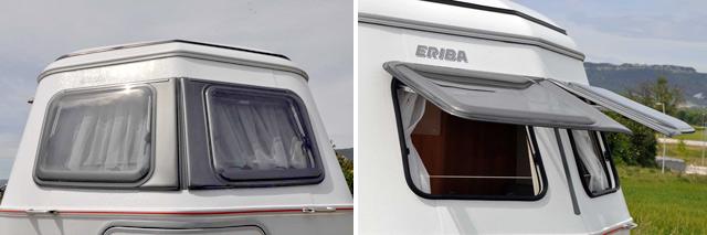 Frontal en V con las dos ventanas practicables