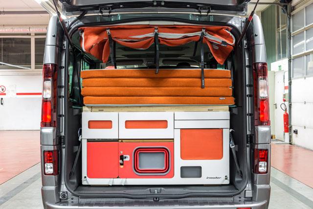 El módulo I Flex es de fácil montaje y en 10 minutos convierte la furgoneta en un camper