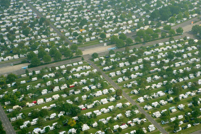 Vista aérea del Caravaning Center