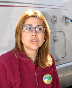 Raquel González durante la entrevista