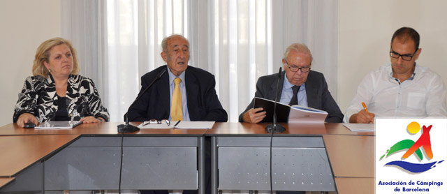 Josefina Soley, José Francisco Caballé de Pol, Ignasi Espar y Joaquim Pujol