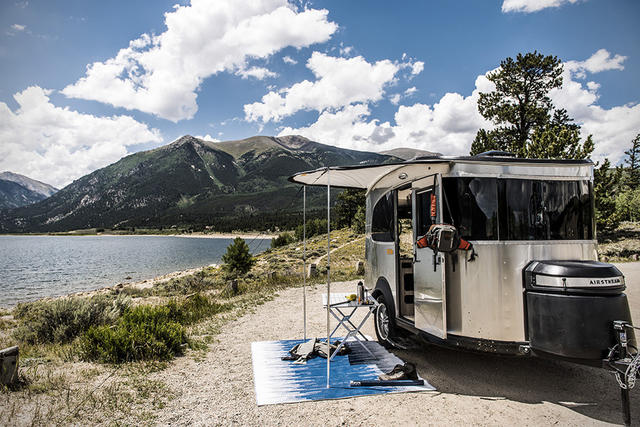 Vintage Airstream Basecamp.