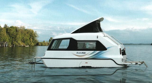 BoatVan, la caravana-barca en el lago