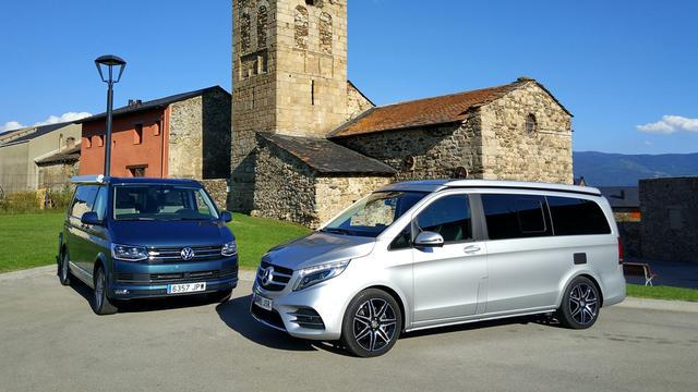 Cuando pensamos en camper pensamos en Volkswagen California y Mercedes-Benz Marco Polo