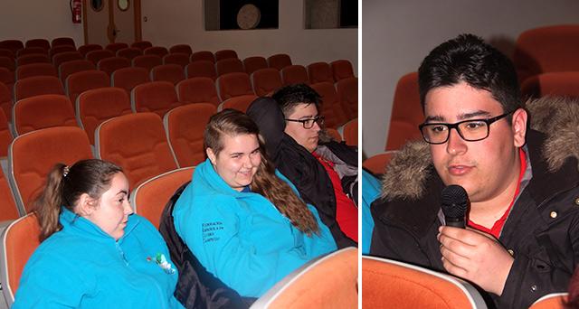 Representación de los jóvenes en la asamblea de la FECC / Sergio Arpa durante su intervención