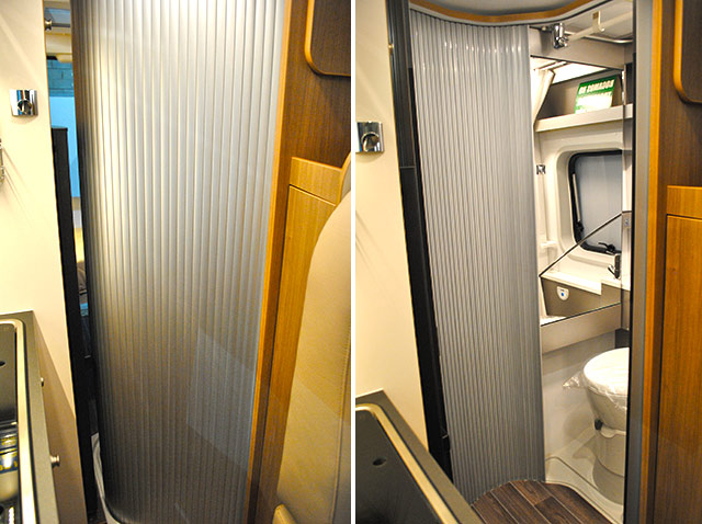 El baño de las Twin se modula con la puerta corredera.