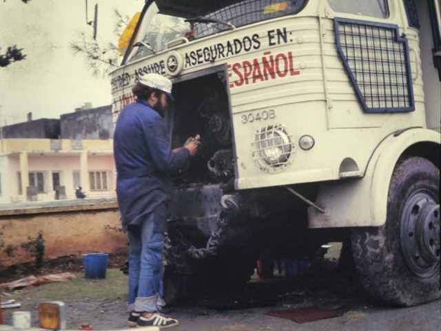 También estudiaron sobre el mantenimiento y la reparación del camión Pegaso