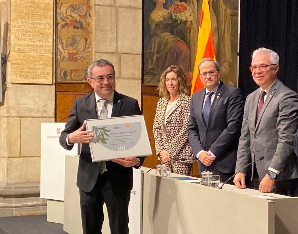 Los Campings de Girona reciben el premio Turismo Responsable 2019.
